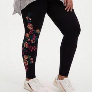 🆕Torrid Floral Garden Shimmer Black Legging 2X 18